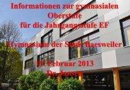 Informationen für EF zur Wahl der Leistungskurse und Abiturfächer