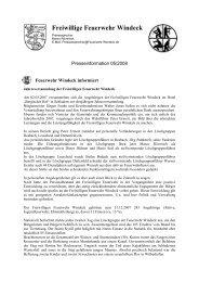 Jahresversammlung am 02.03.2008 - Feuerwehr Windeck