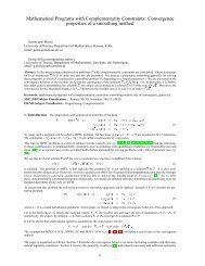 Mathematical Programs with Complementarity Constraints - Applied ...