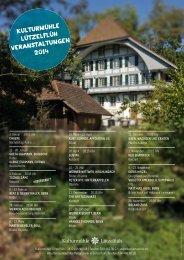 Jahresprogramm 2014 (pdf) - in der Kulturmühle Lützelflüh