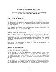 1 DECISION OF THE COMPETITION COUNCIL no. . 209 as of 21.11 ...