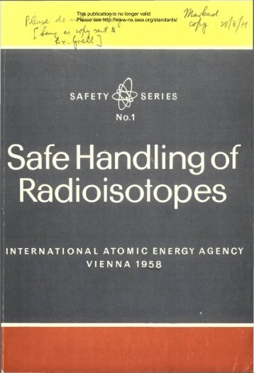 INTERNATIONAL ATOMIC ENERGY AGENCY VIENNA 1958 - gnssn