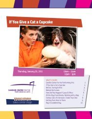 If You Give a Cat a Cupcake - Sandler Center for the Performing Arts