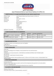SAFETY DATA SHEET Jeyes Professional Defence Liquid ... - Arco