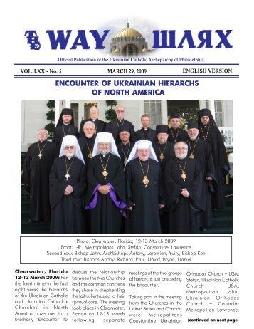 03/29/09 - Ukrainian Catholic Archeparchy of Philadelphia