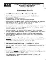 microrregião do alto paranaíba - Intranet - IMA Instituto Mineiro de ...