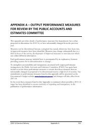 Output performance measures for review by the Public Accounts and