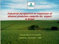 Industrial perspective on expansion of ethanol prodution capacity for ...