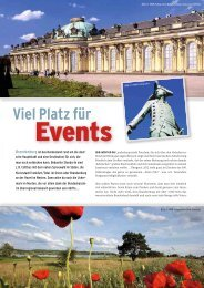 Viel Platz für Events in Brandenburg - Convention-International