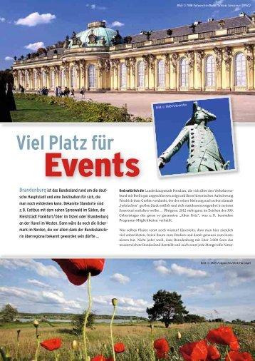 Viel Platz für Events in Brandenburg - Convention-International