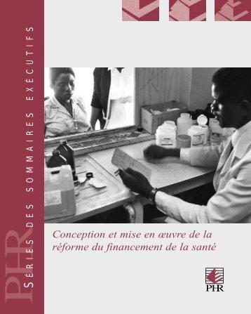 Conception et mise en œuvre de la réforme du ... - PHRplus