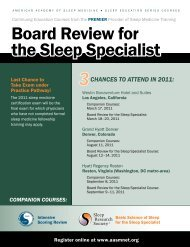 Board Review for the Sleep Specialist - IntelliQuest Media