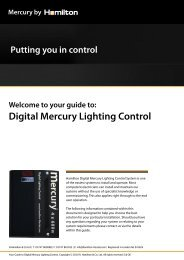 Digital Mercury Lighting Control - ASC Info