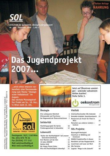 Das Jugendprojekt 2007... SOL