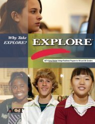 Why take the EXPLORE? - DuPage High School District 88
