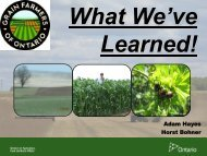 What We've Learned - Ontario Soil and Crop Improvement Association