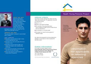 7469 Neath Young Persons 1/3 a4 - Family Housing Association ...