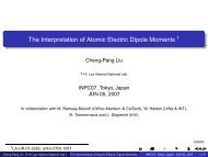 The Interpretation of Atomic Electric Dipole Moments 1