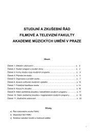 STUDIJNÍ A ZKUŠEBNÍ ŘÁD FILMOVÉ A TELEVIZNÍ ... - FAMU
