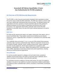 PCI DSS - SecureAuth