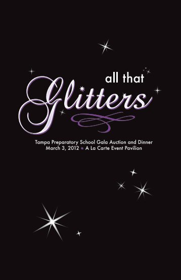 All That Glitters Catalog - Tampa Preparatory School