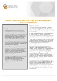 WCA Policy Statement on Energy Poverty and Sustainable