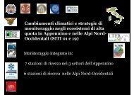 Monitoraggio integrato in: 7 stazioni di ricerca nei 3 ... - LTER italia