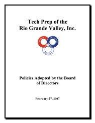tech prep of the rio grande valley, inc. policy manual