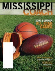 Official Publication of The Mississippi Association of Coaches