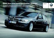 BMW ökar mest bland tjänstebilar i Sverige!