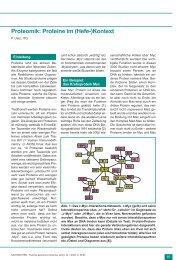 Proteomik: Proteine im (Hefe-)Kontext