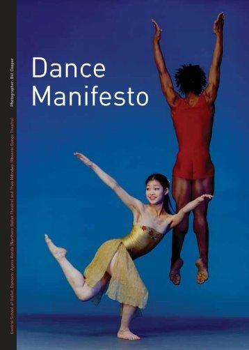 Download the Dance Manifesto - Dance UK