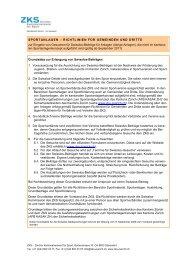 Richtlinien Sportanlagen (PDF) - ZKS
