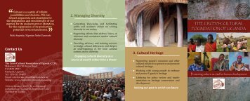CCFU Brochure - Cross-Cultural Foundation of Uganda(CCFU)