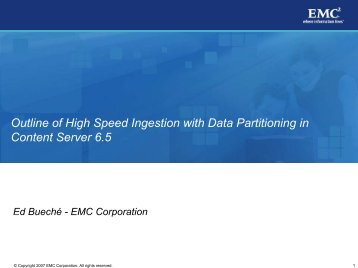 Outline of High Speed Ingestion with Data Partitioning in Content ...