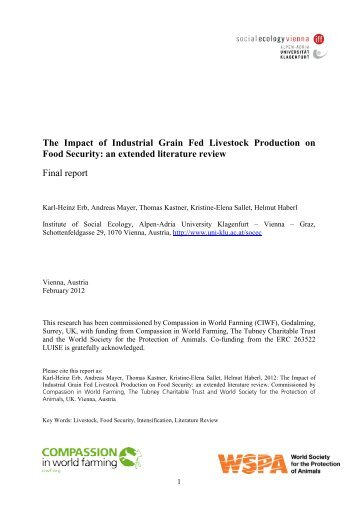 The Impact of Industrial Grain Fed Livestock Production on Food ...