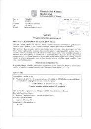 rozhodnutí o umístění stavby - Klecany
