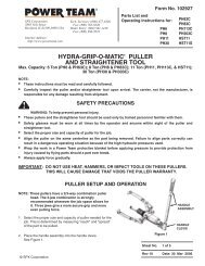 hydra-grip-o-matic® puller and straightener tool - SPX