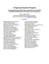 A Vigorous Explorer Program - High Energy Astrophysics Division