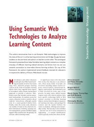 Using Semantic Web Technologies to Analyze Learning Content