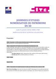 Programme de la journée - Cité de l'architecture & du patrimoine