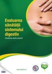 Evaluarea sănătăţii sistemului digestiv - WGO Foundation