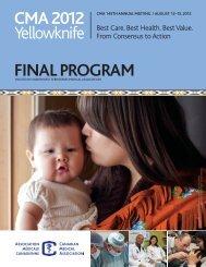 Final program - Canadian Medical Association