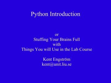 Python Introduction - NSC
