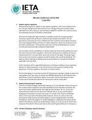 Agenda Conference Call - IETA
