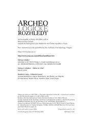 Archeologické rozhledy 2004 - Archeologický ústav AV ČR