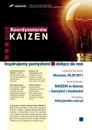 Inspirujemy pomysłami dołącz do nas - Kaizen Institute