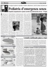 Troppi ricoveri in pediatria (da Il sole 24 ore Sanità)