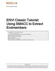 ENVI Classic Using SMACC to Extract Endmembers - Exelis VIS