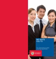 WE INVITE YOU TO - The University of Sydney